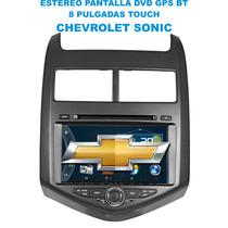 Estereo Pantalla Chevrolet Sonic Dvd Bt Usb Gps Touch 8
