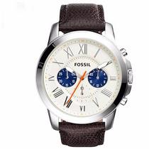 Relógio Masculino Fossil Pulseira De Couro Marrom Fs4885/0pn