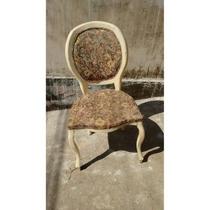 Cadeira Antiga Estilo Medalhão Luiz Xv De Madeira