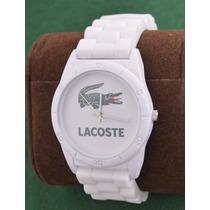 Lacoste Relógio Branco Esportivo Masculino Novo