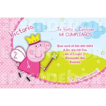 Tarjetas De Invitacion Peppa La Cerdita - Invitaciones Epv