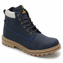 Bota Casual Sapato Masculino Nas Cores Mocassim,marrom Azul