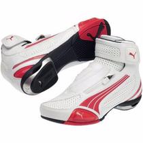 Bota Tenis Motociclista Puma Testatreta Branca/vermelha