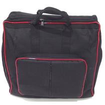 Capa Bag Master Luxo Nylon 900 P/ Acordeon 120 Baixos R E D