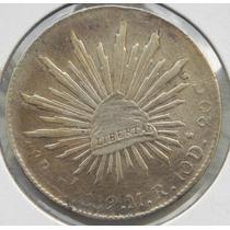Moneda Mexico 8 Reales San Luis Potosi 1889 Plata Excelente