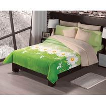 Cobertor Con Borrega Matrimonial / Qs Alegria Verde Concord
