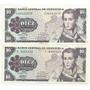Billetes De 10 Bs Octubre 6 1981 Letra C Conmemorativos