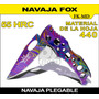 Navaja Fox Plegable Material 440 Dureza 55 Hrc 52 Gr