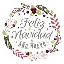 Vinilo Vidriera Navidad Año Nuevo Fiestas Lindo Diseño Color