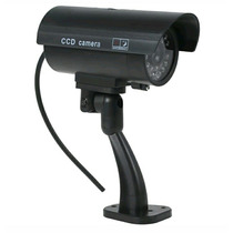Cámara Video Exterior Dummy Impermeable Led Batería Negro