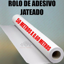 Adesivo Jateado Rolo 50m P/ Vidro Box Janela Porta Banheiro
