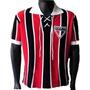 Camisa Retrô São Paulo Cordinha Blusa Tricolor Camiseta Spfc