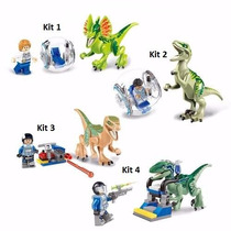 Kit 2 Pçs Mini-figuras Jurassic World Dinossauro