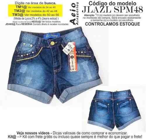 c1bdef20bb Short Jeans Roupas Femininas Lycra Rasgo Pedras Unli  Shpm42 - R  30 ...