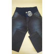 Calça Jeans Com Elastano Megadose Gestante / Grávida