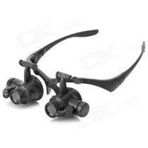 Oculos Lupa Cabeca 2 Leds Jogo 4 Lentes 25x Pronta Entrega