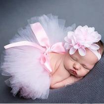 Tutú Y Bandita Para Bebe Niña Sesion De Fotos Recien Nacido