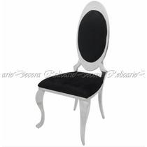 Cadeira De Jantar Em Metal Design Medalhão Belissima