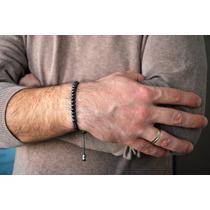 Pulsera Hombre Hematita Natural 8mm. Largo A Medida