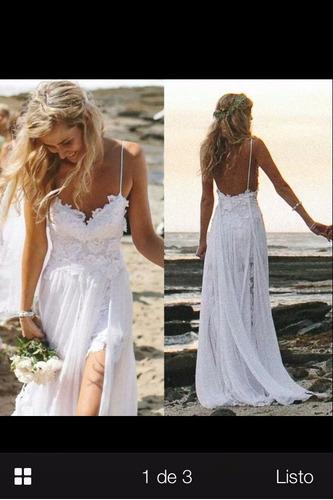 vestido de novia hippie chic - $ 80.000 en mercado libre