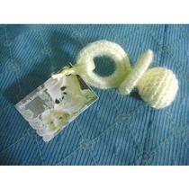 Souvenir, Chupete En Crochet Con Tarjeta Para Nacimiento