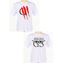 Kit C/ 2 Camisas Personalizadas Banda Rock Gospel Oficina G3