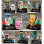 Set Minecraft Zomie Steve Sheleton Cre Compatible Con Lego