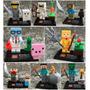 Set Minecraft Zomie Steve Sheleton Cre Compatible Con Lego