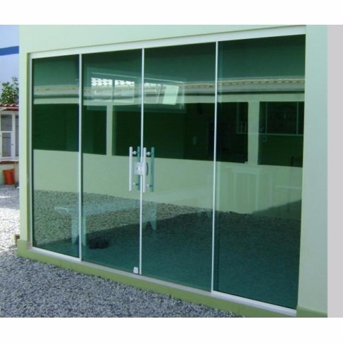 Porta Blindex 2 10 X 1 60 De Correr Vitron 8mm Verde