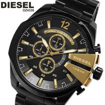 Relógio Masculino Diesel Dz4338 Dourado Original Garantia