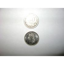 Lote De Siete Monedas De 50 Centavos Níquel 1941
