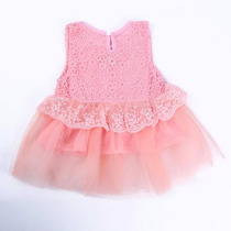 Vestido Bebê Rosa 13-18 Meses