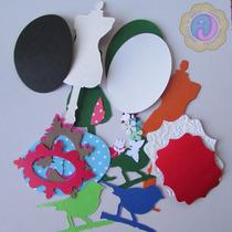 Figuras Troqueladas En Cartulina (paquetes 3 Docenas).