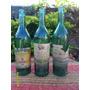 Lote De 3 Antiguas Botellas Vino Globo Toro Arizu