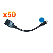 Lote 50 Cables Otg Para Celulares Y Tablets, Usb A Micro Usb