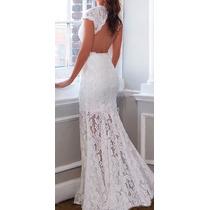 Vestido Noiva Madrinha Festa Casamento Decote Costas Renda
