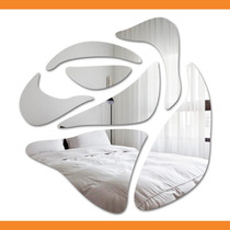 Espelho Decorativo Quarto - Flor 55 Cm X 56 Cm