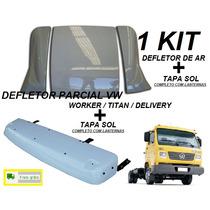 Kit Defletor De Ar E Tapa Sol Caminhão Vw Worker Delivery