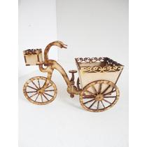 Triciclo Con Maceta En Mdf Para Adorno De Mesa De Dulces