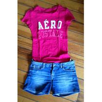 Shorts Pepe Jeans Y Playera Aéropostale, Originales De Niña.