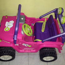 Carro Electrico Jeep Para Niña Barbie Fisher Price.