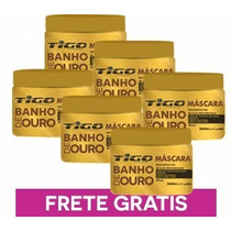 Banho De Ouro Combo 6 Máscara Nutre 300gr - Tigo Cosméticos