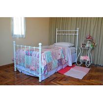 Cama De Hierro 1 Y 1 1/2 Plaza; Modelo Violeta
