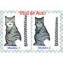 Vinil Para Auto: Sticker Parabrisas Movible Modelo Gato