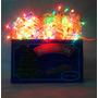 Luz Luces De Navidad Arroz X100 Multicol Cable Transp. Caja