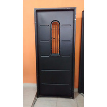 Puerta Chapa Simple Reforzada Ciega Postigo Abrir 80 X 200