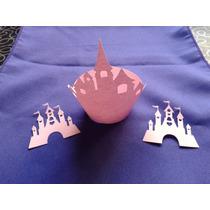 Porta Cupacake Castillo X10 Wrapper Calado Troquel Princesas