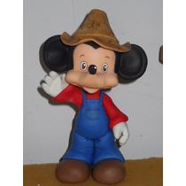 Mickey Granjero En Porcelana Fría