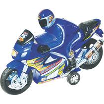 Brinquedo Moto Racer Movido A Fricção Azul 703 - Lider
