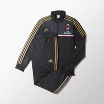 Conjunto Adidas Fútbol A.c. Milan Black/dark Football